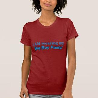 T-shirt Grande conception des textes de pantalon de garçon