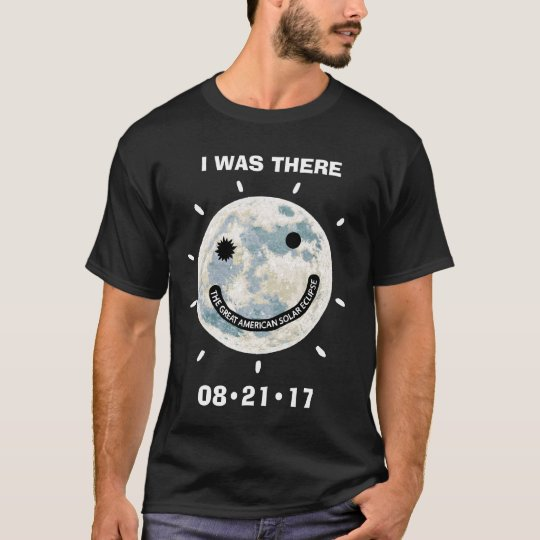 T-shirt Grande éclipse solaire américaine j'étais là