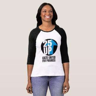 T-shirt Grande pièce en t de douille du logo 3/4 de CA25UP