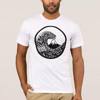 T-shirt Grande pièce en t de Hokusai de vague