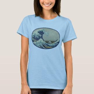T-shirt Grande pièce en t de la vague de Hokusai