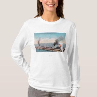 T-shirt Grande vue du nord de dock, solides solubles