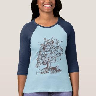 T-shirt Grandissez la chemise de cabane dans un arbre