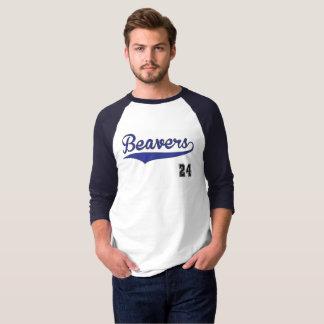T-shirt Graphique de base-ball de castors