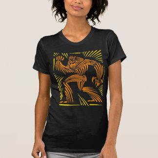 T-shirt Graphique de gravure sur bois en Wolfman