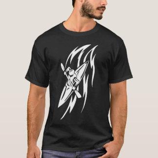 T-shirt Graphique extrême Kayaking de sport dans noir et