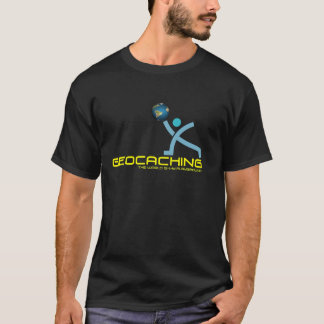 T-shirt Graphique foncé de chemise de logo de Geocaching !