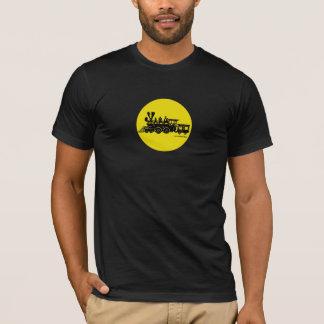 T-shirt graphique locomotif vintage de machine à