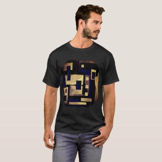 T-shirt Graphique noir bronzage de Brown