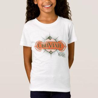 T-Shirt Graphique orange de charme d'Obliviate d'art déco