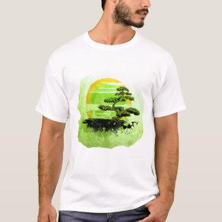 T-shirt Graphique vintage de bonsaïs, version verte