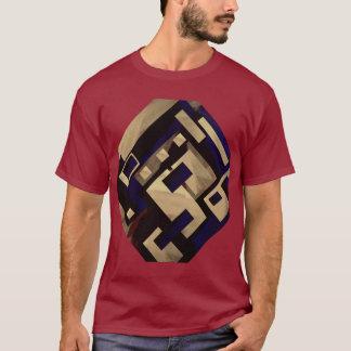 T-shirt Graphiques noirs bronzages de Brown par