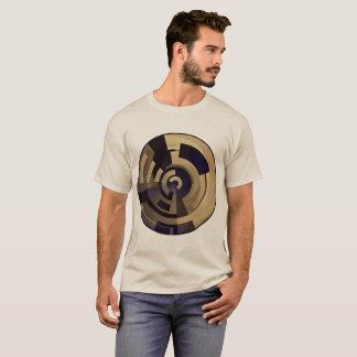 T-shirt Graphiques noirs bronzages de Brown sur Tan plus