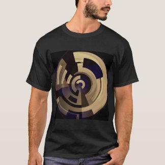 T-shirt Graphiques ronds bronzages noirs