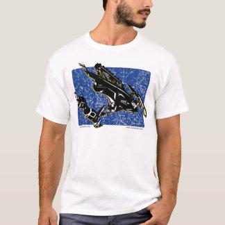 T-shirt Gravité-TRAÎNEAU-dans le bleu