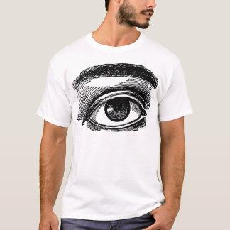 T-shirt Gravure du bois de grand oeil vintage