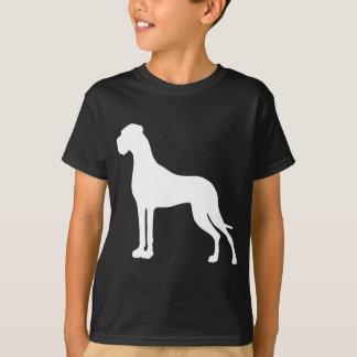 T-shirt Great dane White