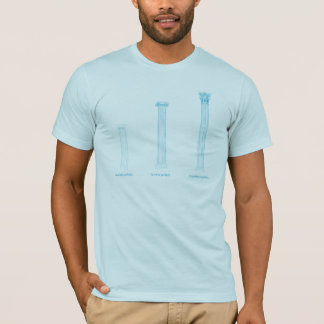 T-shirt grec d'ordre de colonne