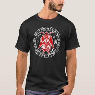 T-shirt Grêle Satan Baphomet avec les croix sataniques