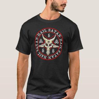 """T-shirt """"Grêle Satan"""" Baphomet dans le païen de pentagone"""