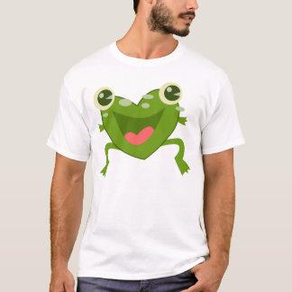 T-shirt Grenouille de coeurs de bande dessinée
