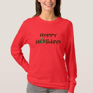 T-shirt Grenouille de houblon de Père Noël de vacances -