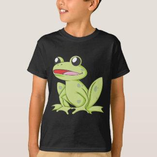 T-shirt Grenouille de Taureau verte de bande dessinée