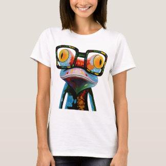 T-shirt Grenouille en verre de hippie