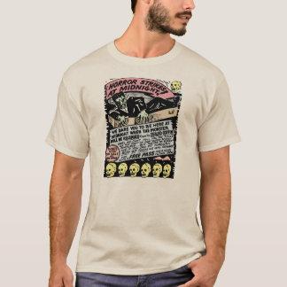 T-shirt Grèves d'horreur à l'art vintage de minuit