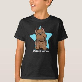 T-shirt Griffon de Bruxelles cultivé par rouge d'étoile de