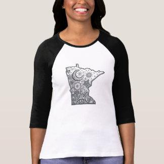 T-shirt Griffonnage de carte du Minnesota