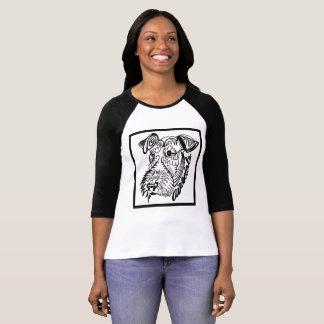 T-shirt Griffonnage de chien d'Airedale