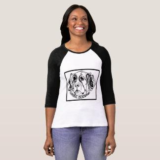 T-shirt Griffonnage de chien de St Bernard