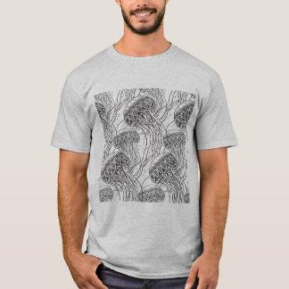 T-shirt Griffonnage de méduses