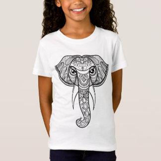 T-Shirt Griffonnage de tête d'éléphant