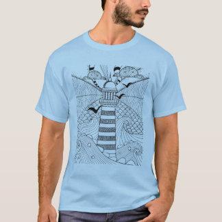 T-shirt Griffonnage tiré par la main de phare