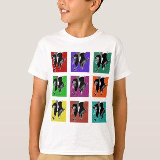 T-shirt Grille Muli-Colorée de robinet