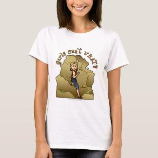 T-shirt Grimpeur de roche léger de fille