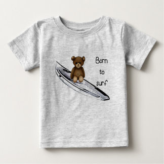 "T-shirt gris ""Born to surf"""