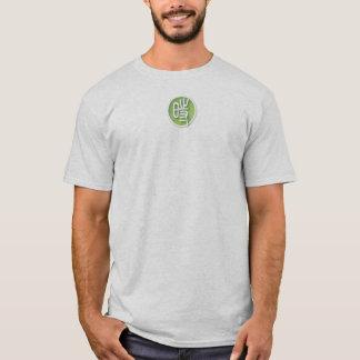 T-shirt gris-clair du XL des hommes