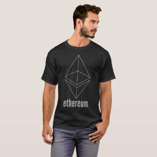 T-shirt gris de Cryptocurrency de l'espace