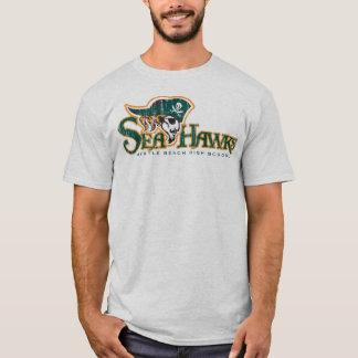 T-shirt gris de décollement Seahawk (L)