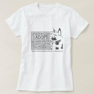 T-shirt Gris de délivrance de nuage de mot du berger