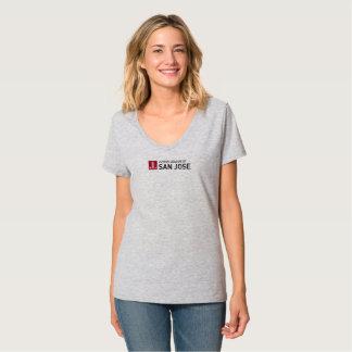 T-shirt gris de logo de JLSJ