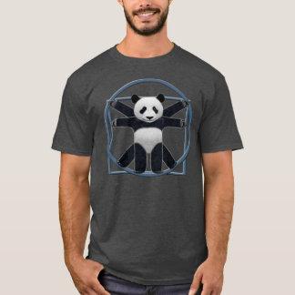 T-shirt gris de panda de Vitruvian des hommes