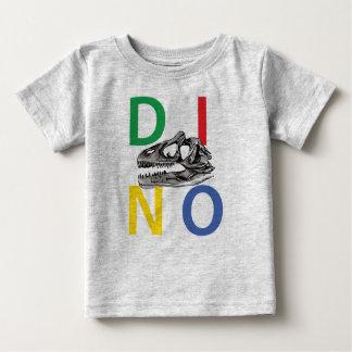 T-shirt gris du Jersey d'amende de DINO - de bébé