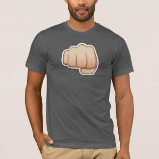 T-shirt gris + emoji poing iphone