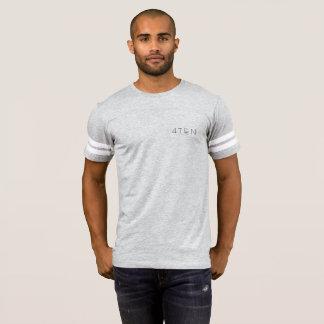 T-shirt gris rayé du bras 4TEN