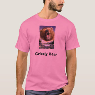 T-shirt Grizzly-Bear-Poster-C10033289, ours gris