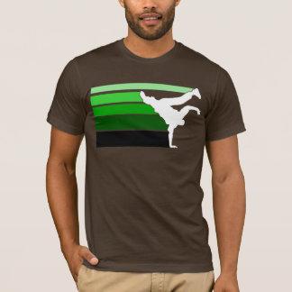 T-shirt Grn de gradient de BBOY blanc
